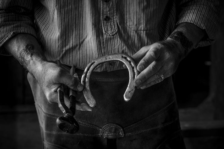 Blacksmith at Work Artisan Blacksmith  Hands Man At Work Adult Close-up Craft Farrier Holding Human Hand Kinvara Markus Voetter One Person Shirt Tattoo