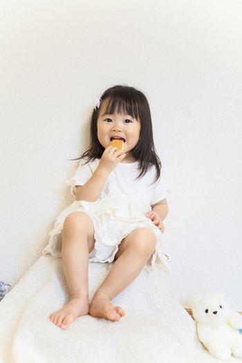 Kid Child Girl White Smile Cookies Bite Japanese  The Portraitist - 2016 EyeEm Awards