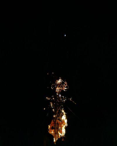 Ravana Moon Ravana Effigy India Dusshera Festival Astronomy Illuminated Space Tree Sky Close-up Firework - Man Made Object Firework Display Long Exposure Firework