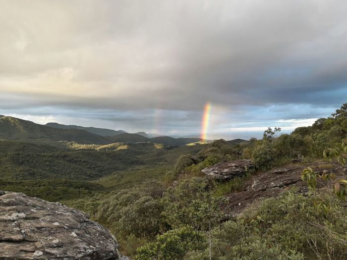 Rainbow Dramatic Sky Landscape Beauty In Nature Nature Sunlight Cloud - Sky Tranquility Mountain Outdoors No People Forest Day Grass Tree Sky Traveling Weekend Brazilian Paradise Travel Destinations Traveller Weekend Fun Travel Photography Travel Brazil