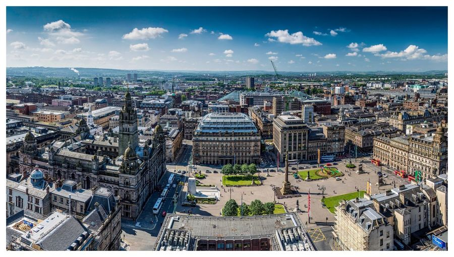 Glasgow view over george square
