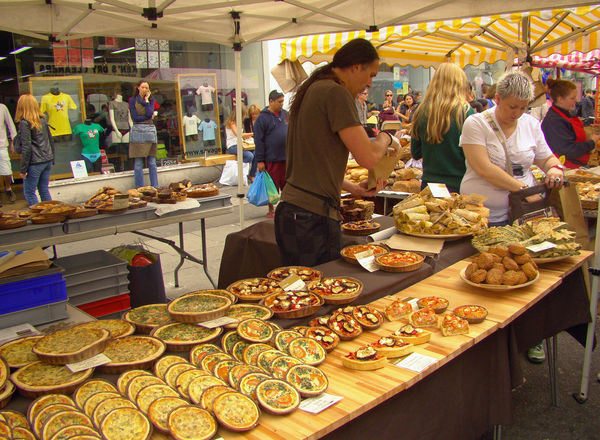 Quiche and bakery shop at Camden market Bakery Choice Display Food Foods For Sale Fresh Freshness Market Market Stall Outlet Quiche Retail  Sale Shop Small Business Snack Store Street Street Market Trade Up Close Street Photography Vendor The Shop Around The Corner Live Love Shop Small Business Heroes