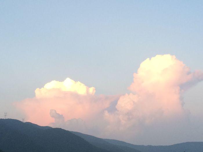 Cloud Shiga Mountains Setting Sun