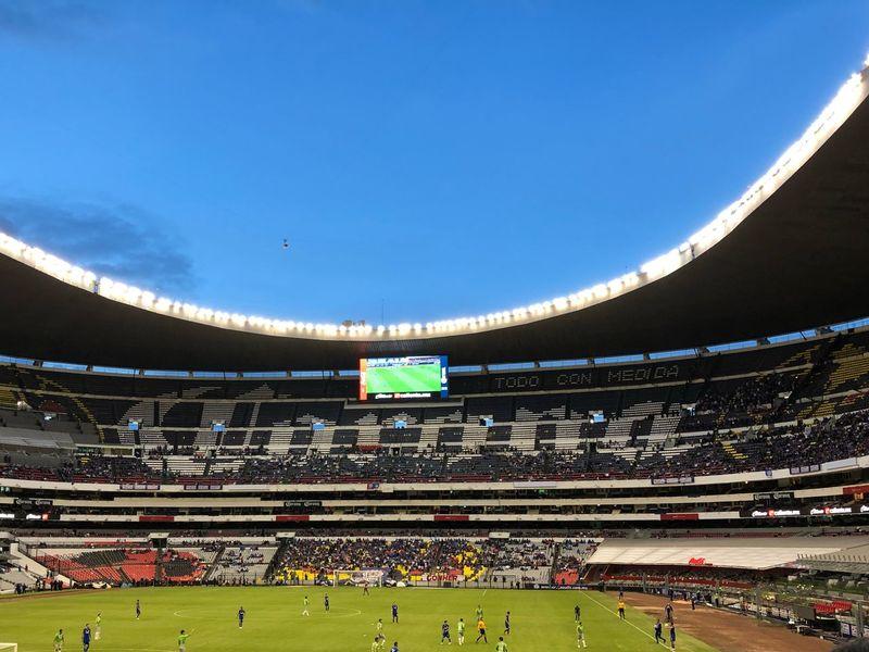 Estadio Azteca. 02/10/18 #Fútbol #Football #mexico Sport Sky Group Of People Architecture Stadium Built Structure Crowd