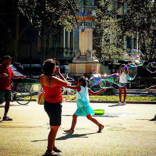 SPAIN España Barcelona Catalunia Barça Bubbles Fun Park Arctriomphe Summer