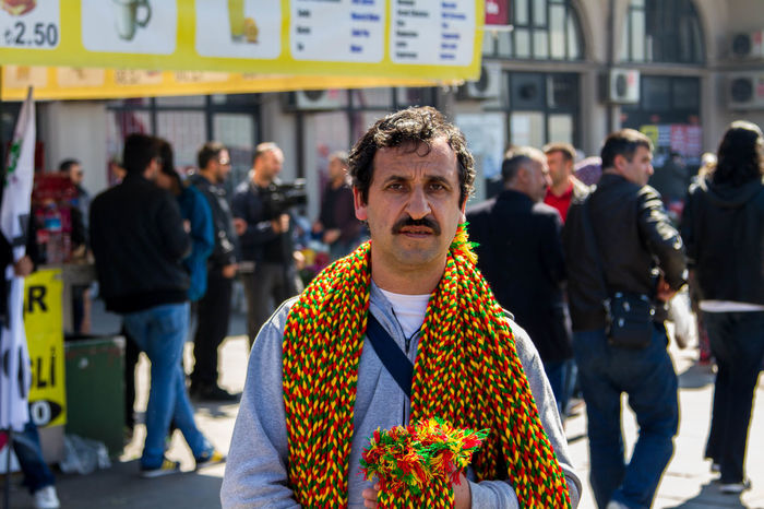 City HDP Kurdish Meeting Outdoors Peddler People Political Portrait Seyyar Satıcı