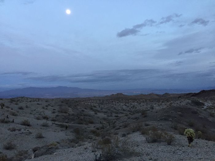 Desert Landscape Mojave Desert Enjoying The View Beauty In Nature Escaping Moonrise No Edit/no Filter