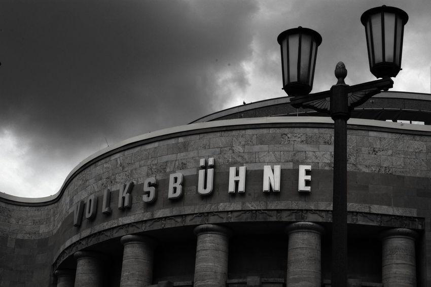 Volksbühne Berliner Ansichten Arcade Architectural Column Architectural Feature Architecture Berlin Mitte Building Exterior Built Structure Capital Cities  Cloud Cloud - Sky Façade bw, Bw Schwarzweiß , Battle Of The Cities
