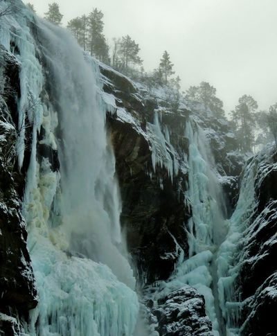 Album Cover Beauty In Nature Borknagar Close-up Cold Temperature Day Epic Scenery Epic Shot Photography Hesjedalsfossen Long Exposure Motion Nature Norwegian Landscape Norwegian Nature Outdoors Power In Nature Scenics Sky Tranquil Scene Tranquility Tree Water Waterfall Wilderness Winter