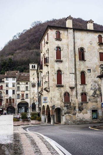 Architecture Building Exterior Clock Day Italia Italian Architecture Italy Italy❤️ Medieval No People Outdoors Piazza Flaminio Road Serravalle Sky Street Travel Destinations Vittorio Veneto