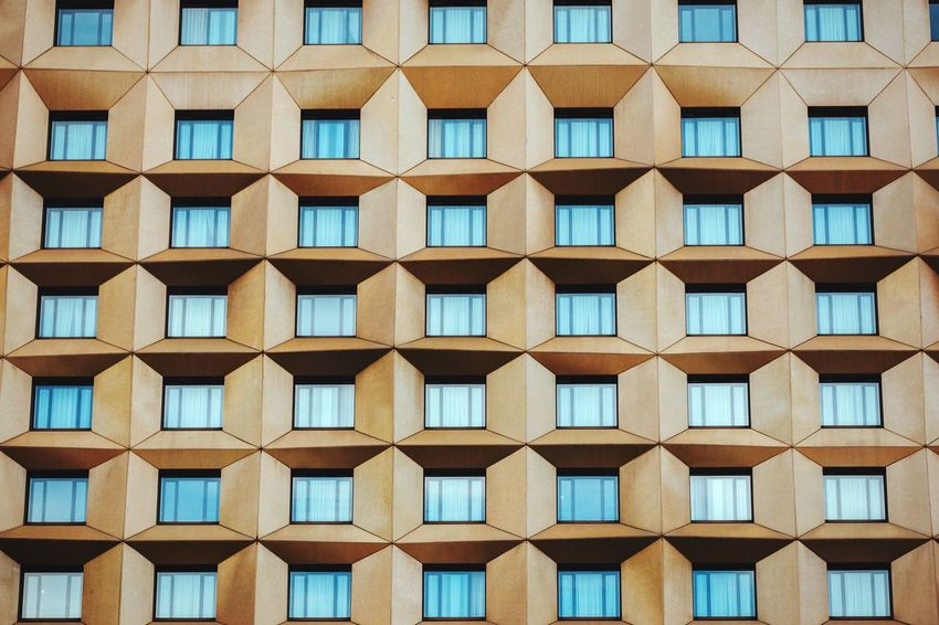 Closed curtains Repetition Architecture In A Row Beautifully Organized Window Backgrounds No People Square Geometric Shape Urban Geometry Hotel Building Exterior Built Structure Seoul Korea Architecture Design Gold Golden Windows Pattern Residential Building Hotel Room Urban Landscape Cityscapes