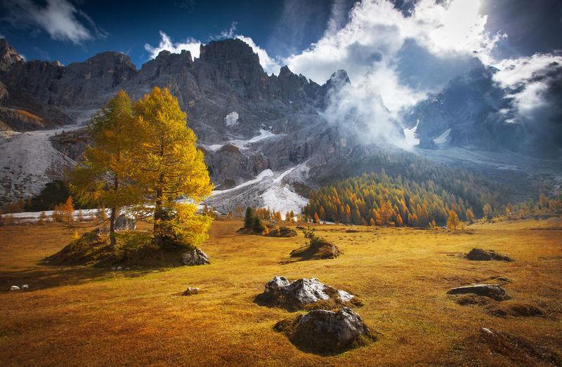Dramatic landscape in autumn