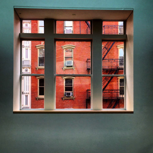 View from a window in Soho Architecture Building Building Exterior City Exterior Façade Order Residential Building Symmetry Urban Wall Window