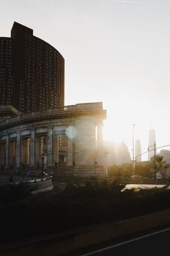 Architecture Built Structure Building Exterior Sky City Building Nature Clear Sky No People Copy Space History Sunlight Sunset The Past Travel Destinations Outdoors Transportation Travel Lens Flare Office Building Exterior
