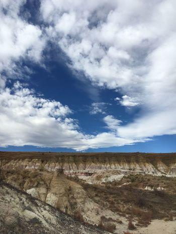 Painted Mines Beauty In Nature No Filter Ancient Blue Colorado EyeEm Selects EyeEmNewHere Sky Landscape Cloud - Sky Nature Tranquil Scene Day Scenics Rock - Object Beauty In Nature Outdoors Geology Arid Climate Tranquility No People Barren Physical Geography Mountain Desert