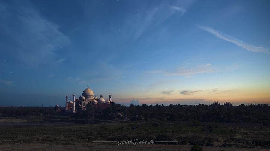 Agra Fort New Delhi Taj Mahal UttarPradesh Yamuna Yamuna River Architecture Built Structure Canon Canonphotography Cloud - Sky Dome History Landscape Muslim No People Outdoors Religion Seven Wonders Of The World Sky Spirituality Travel Destinations