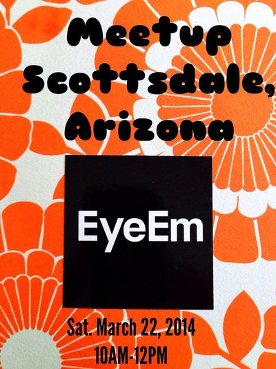 Hi! I am Jaime Glasser the EyeEm Ambassador for Phoenix. We are going to have an EyeEm Meetup Saturday March 22 at the Canal Convergence Festival in Scottsdale from 10AM-12 PM at the Soleri Bridge 4420 N Scottsdale Rd Scottsdale AZ 85251 I hope you can come! EyeEm Meetup Phoenix 2 Scottsdale Public Art Canal Convergence