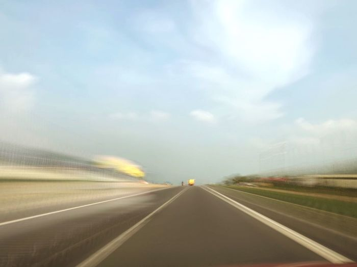 Road The Way Forward Highway Diminishing Perspective Dividing Line Speed Car Point Of View No People Transportation Blurred Motion Speed Of Motion