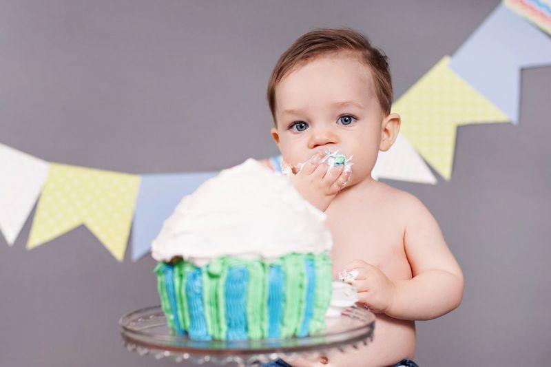 HappyBirthday One Eat Cake Baby Boy Cakesmash Celebrate