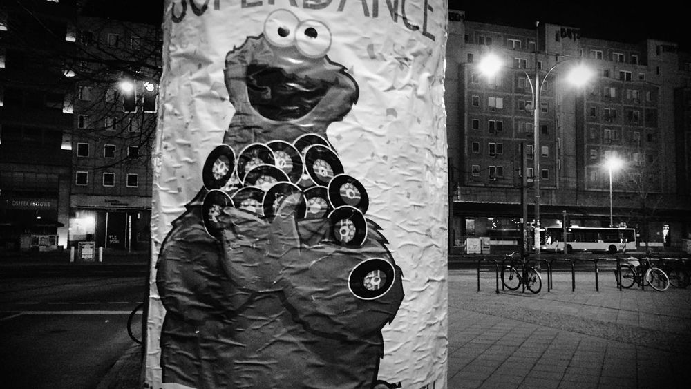 Black&white Lerone-frames Architecture_bw Monster Monster Energy Everything Is Illuminated Cookies Urban Encounters Nightphotography Night Lights Urbanphotography Streetphoto_bw Image In Image Street Photography Streetart Alexanderplatz Notes From Berlin My Fuckin Berlin Berlin Mitte Sesame Street