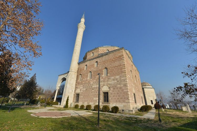 Architecture Low Angle View Macedonia Skopje Mosque Ahmed Islamic Architecture Built Structure Travel Destinations History Old Buildings Dinasty Othmani Building Exterior Muslim