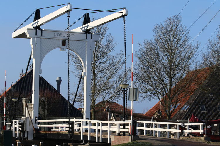 Architecture Blue Bridge - Man Made Structure Built Structure Cable City City Life Connection Day Engineering Koebrug No People Outdoors Sky Stavoren Tall - High The Way Forward Travel Destinations Tree Frisian FRISIAN♡ Friesland Holland