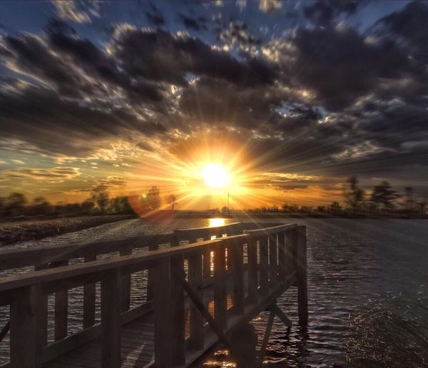 The Great Outdoors With Adobe Fishing Pond Sunset Dock