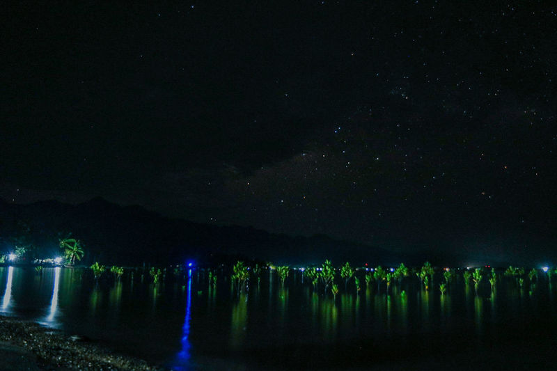 guess i was too early to capture the milky way Sea And Sky Night Photography Astrophotography Amateur Shot Mangrooves Exploring Nature Outdoor Nature Illuminated Tropical Starry Night Tree Water Lake Reflection Sky Landscape Star Field Space And Astronomy Starry Milky Way