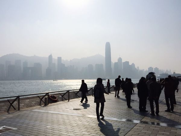 Hong Kong Avenue Of Stars Sun Victoria Harbour Water Pretty The Places I've Been Today
