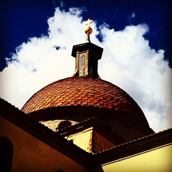 Architecture Church Church Architecture Cupola Perspective Photography Perspective Low Angle View Sky Built Structure Cloud - Sky Building Exterior No People Santospirito Outdoors Roof Day Street Photography Urban Architecture Florence Italy Urban Geometry Urban Perspectives Urban Landscape City View  Endofsummer Urbanphotography