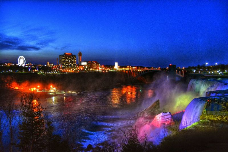 Niagara Falls Niagarafalls Niagara Skyline Niagara SkyWheel NiagaraAtNight Nightphotography Night Nightsky Night Lights Landmark Evening Sky Visual Creativity