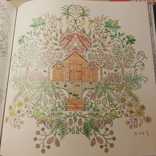 컬러링북 컬러테라피 안티스트레스 어른들의색칠공부 숲속의산장