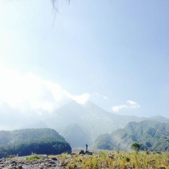 Merapi, Yogyakarta - Indonesia Mountain View Standing Alone