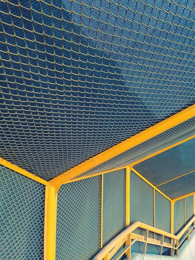 Staircase Covered By Metallic Net