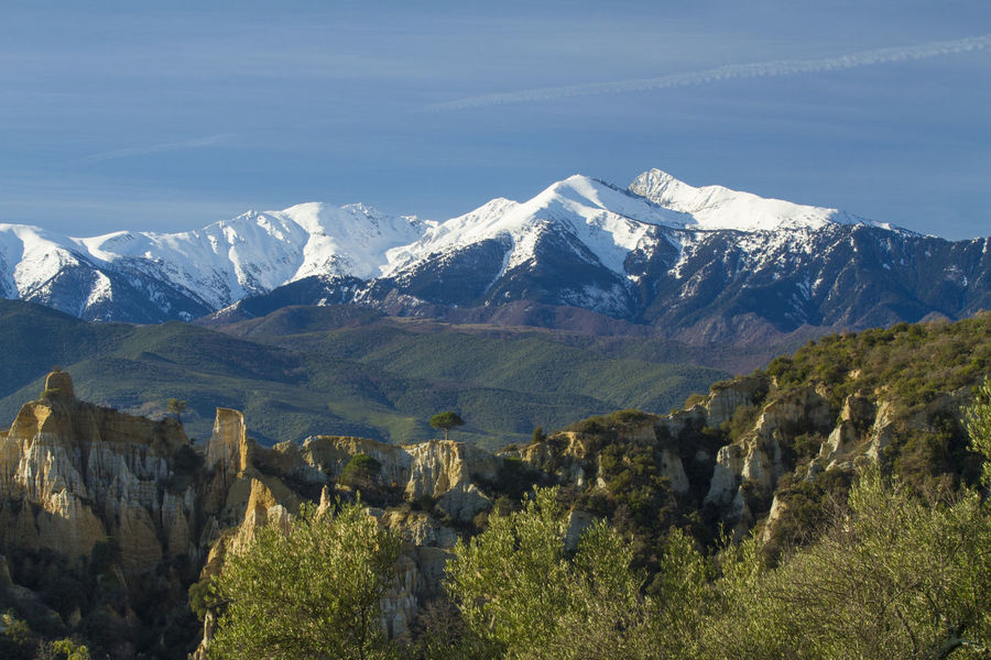 Beauty In Nature Canigou Day France Ille Sur Tet Landscape Mountain Mountain Range Nature No People Orgues Outdoors Snow