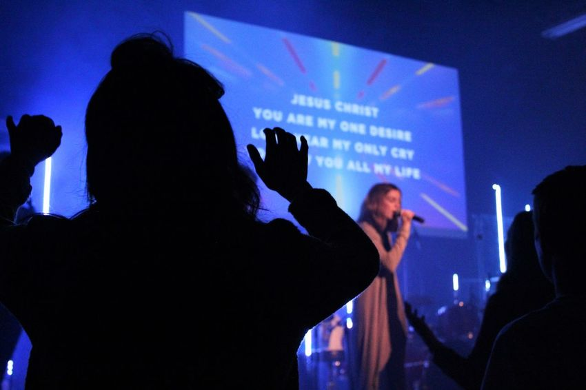EyeEmNewHere God's Beauty God's Creation Event Illuminated Music Night Real People Silhouette Youth Group