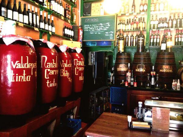 Drink Indoors  Bar - Drink Establishment Bottle Bar Counter No People Old-fashioned Old Madrid Taberna Bodega Bodega Ricla, un clásico de Madrid desde el año 1867, buen vino, vermút y cerveza, ah, y tinto de verno hecho con casera de limón 😉😘