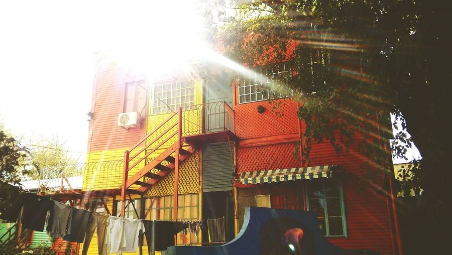 Outdoors Architecture City Caminito Art Is Everywhere BsasCity Buenos Aires City Views Argentina History Colors Front View Travel Pictures Travel Destinations Sunlight Light Multi Colored Façade Day Building Exterior Window Architecture Shadow Built Structure Boca