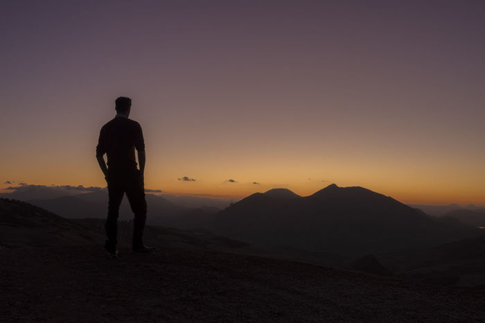 Andalucía Antequera Malaga SPAIN Above The Mountains Adventure Beauty In Nature Landscape Mountain Mountain Range Mountain Views Night Sky Outdoors Silhouette Sunset Tranquility