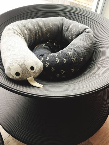 Scandinavian Nursery Colorstory Rattlesnake Stuffed Toy Close-up Gray Grey
