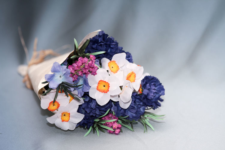 Close-Up Of Various Artificial Flowers