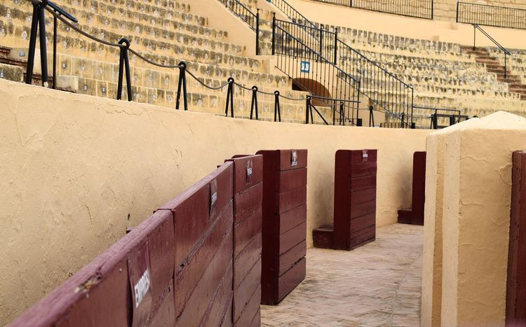 No People Day Outdoors Andalusia Culture Architecture Red City Matador Osuna Bullring Side Protector Built Structure Spanish