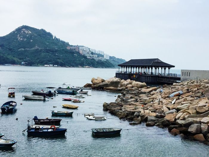 The pier Pier Waters Edge Stanleyhongkong Boats Overcast Day Water Jetty