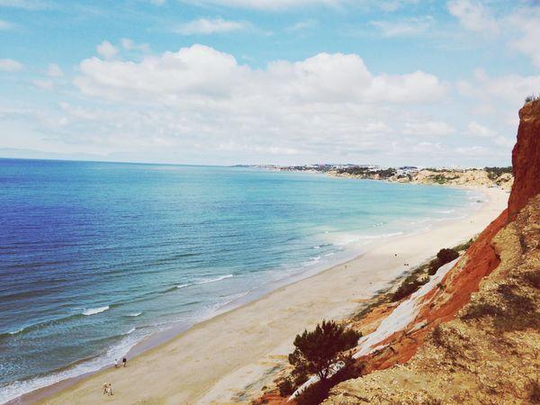 Algarve Beach Water Sea Land Sky Cloud - Sky Scenics - Nature