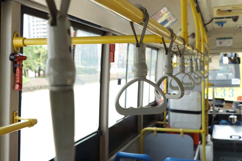 Handles Hanging In Bus