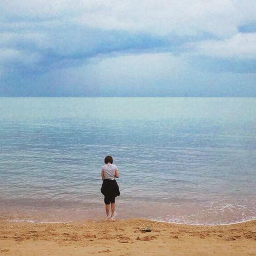 SEA_ME 💙 Thailand Kosamui Beautiful Beaches LoveBeaches Sky Evening Loveisallaround Sea Sand Goodevening