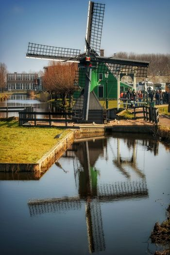 Close to amsterdam.. March 2016 Windmill Netherlands Amstredam Architecture Water Water_collection Mirrorless Mirroring In Water Mirror Reflection Mirroring Likespring Countryside Solotraveler Wanderlust Holland❤