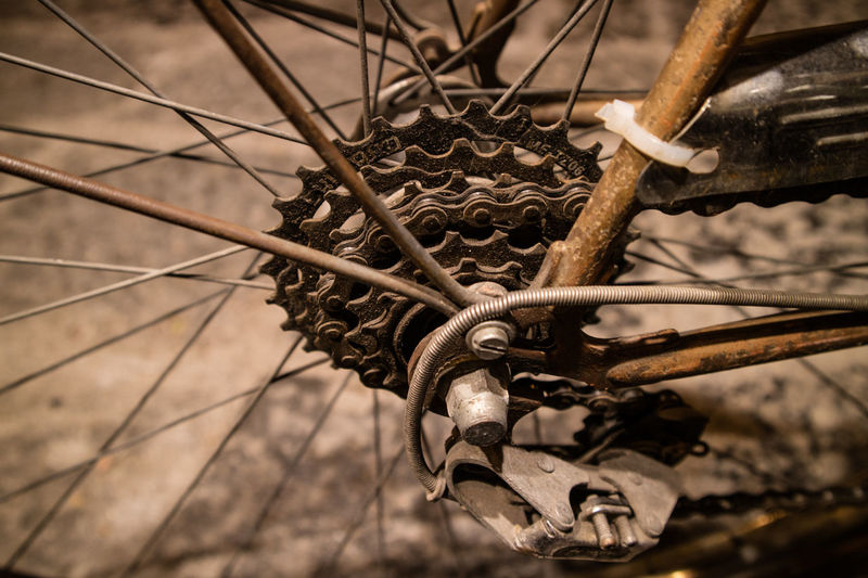 Close-Up Of Rusty Bicycle