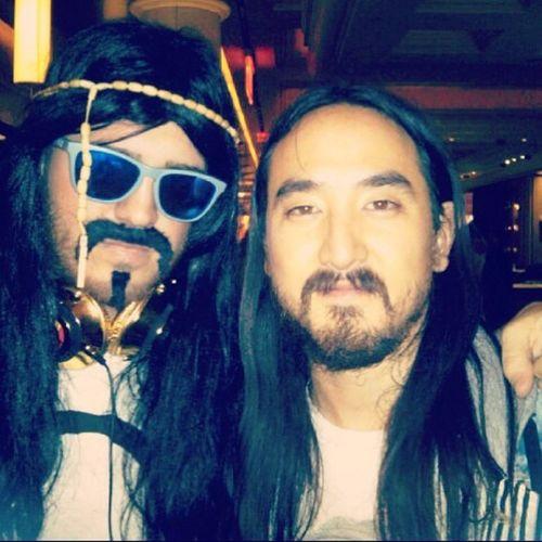 TBT  Halloween2012 Murmurmondays Aokify asianjesus cbodakat twinz based @steveaoki