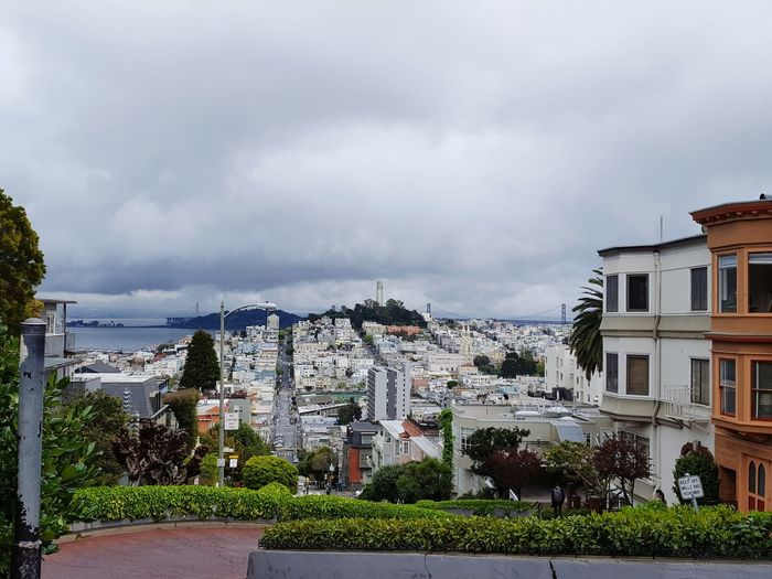 At Lombard St, San Francisco San Francisco Lombard Street Crowded Overpopulation House Residential Building Building Exterior Built Structure Architecture No People Cityscape Outdoors City Town